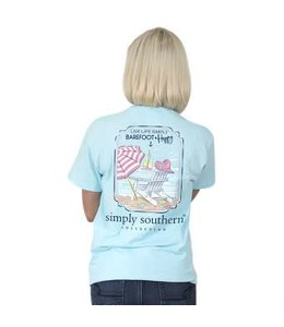 Simply Southern Simply Southern Preppy Barefoot Shirt Marine