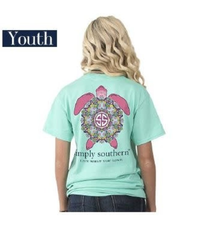 Simply Southern Simply Southern Preppy Turtle Aqua