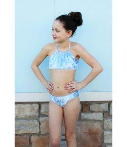 Cheryl Creations Tween Velvet Bikini Light Blue