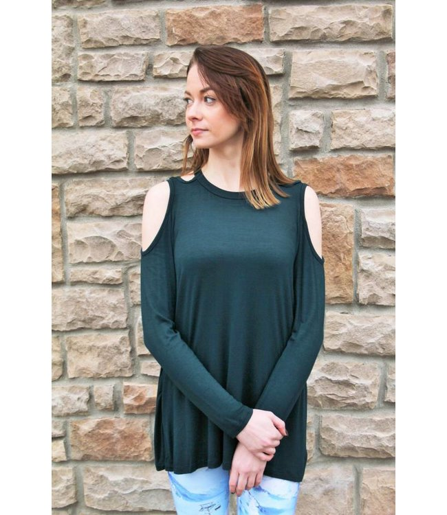 Cold Shoulder Hunter Green