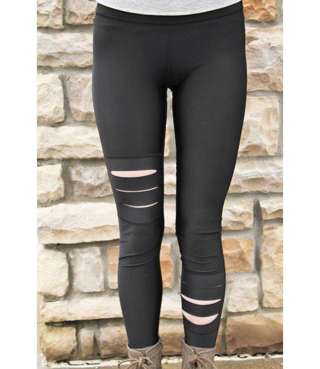 Zara Terez Women Terez Slash Patch Leggings Black