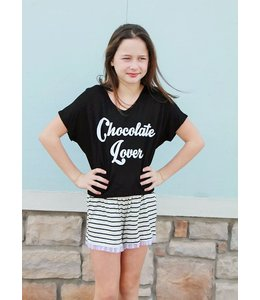 Tru Luv Chocolate Lover Sleep Set Black/White
