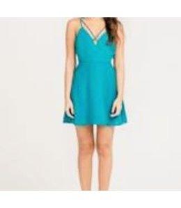 Strap Detailed Fit & Flare Dress Harbor Blue