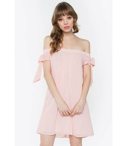 Malibu Sugar Bridgett Off The Shoulder Dress Peach