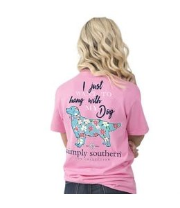 Simply Southern Simply Southern Preppy My Dog Shirt Flamingo