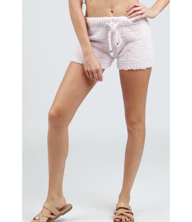 Berber Fleece Pajama Shorts Powder Pink