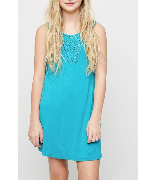 Rayon Shift Dress Teal