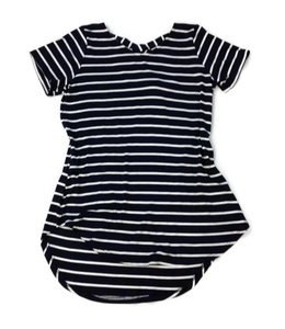 Striped Top Navy/White