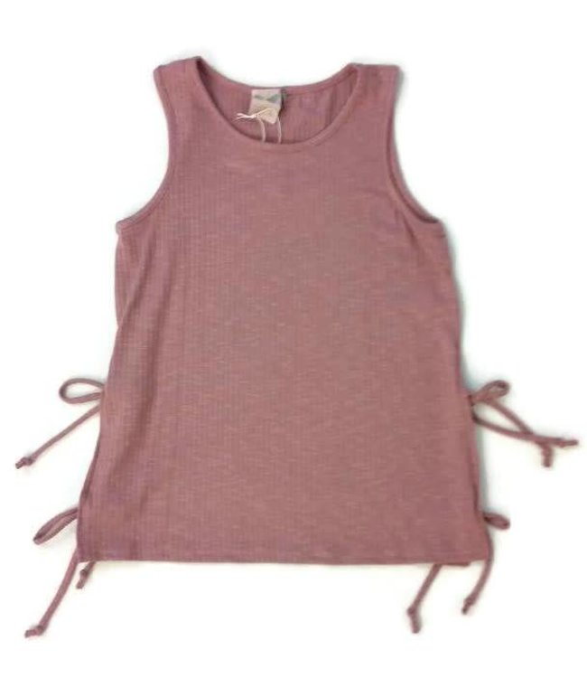 Round Neck tank W/ Side Ties Mauve
