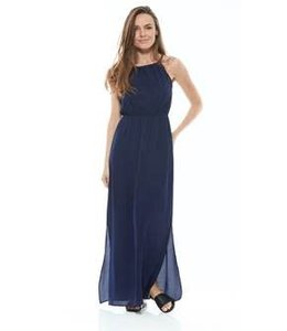 Long Argan Dress Navy