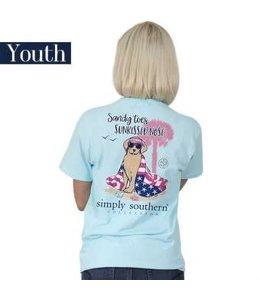 Simply Southern Simply Southern Preppy Sandy Shirt Marine