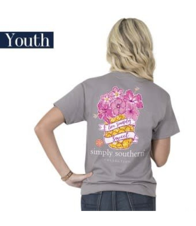 Simply Southern Simply Southern Preppy Pineapple Shirt Steel