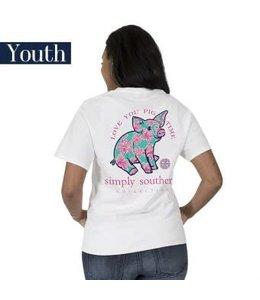 Simply Southern Simply Southern Preppy Piggy Shirt White