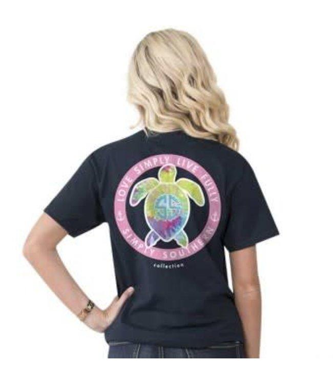 Simply Southern Simply Southern Preppy Logo Shirt Dye Navy