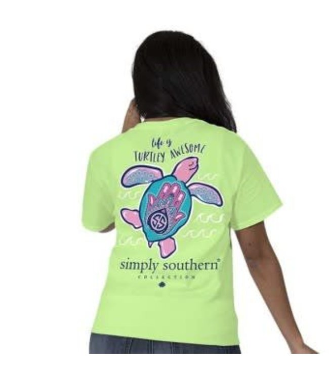 Simply Southern Simply Southern Preppy Awesome Shirt Limeaid