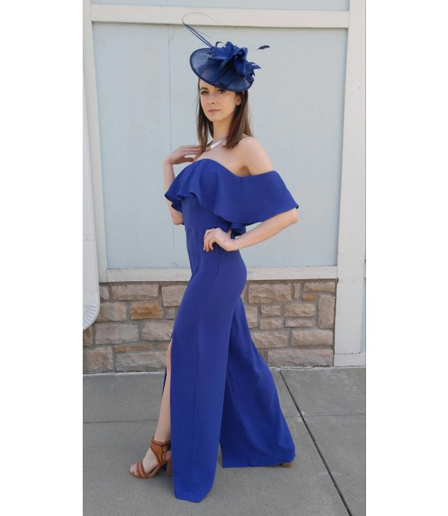 Ruffle Jumpsuit Royal