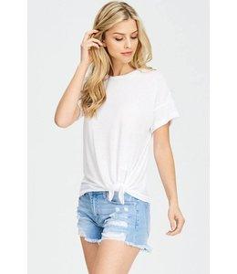 Fashion District LA Side Tie Top White
