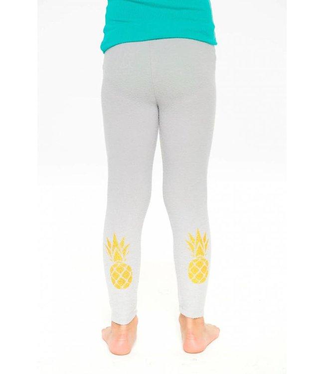 Chaser Pineapple Love Knit Leggings Misty