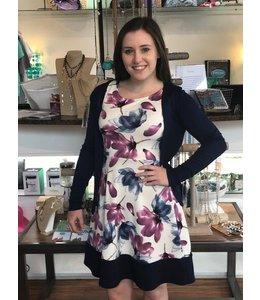 Gilli Floral Print Dress Ivory/Multi