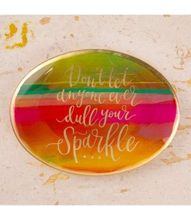 Natural Life Natural Life Glass Tray Sparkle