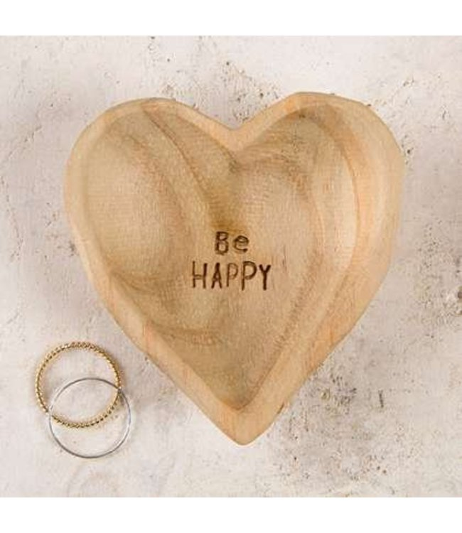 Natural Life Natural Life Wooden Heart Dish