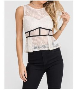 Lace Top Cream/Black