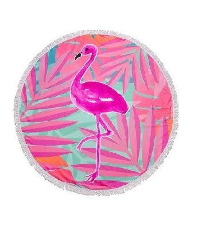 Flamingo Round Beach Blanket