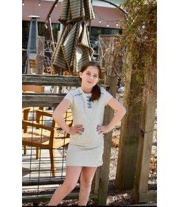 Lace Up Dress Heather Grey