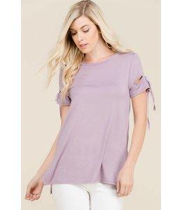 Split Sleeve Top Dusty Lavender