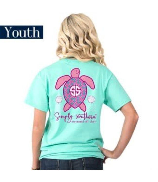 Simply Southern Simply Southern Save Mertle Shirt Aqua