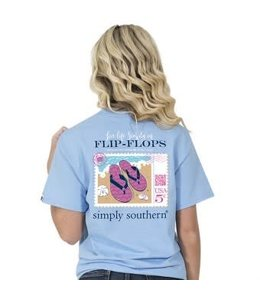 Simply Southern Simply Southern Preppy Flop Shirt Blue