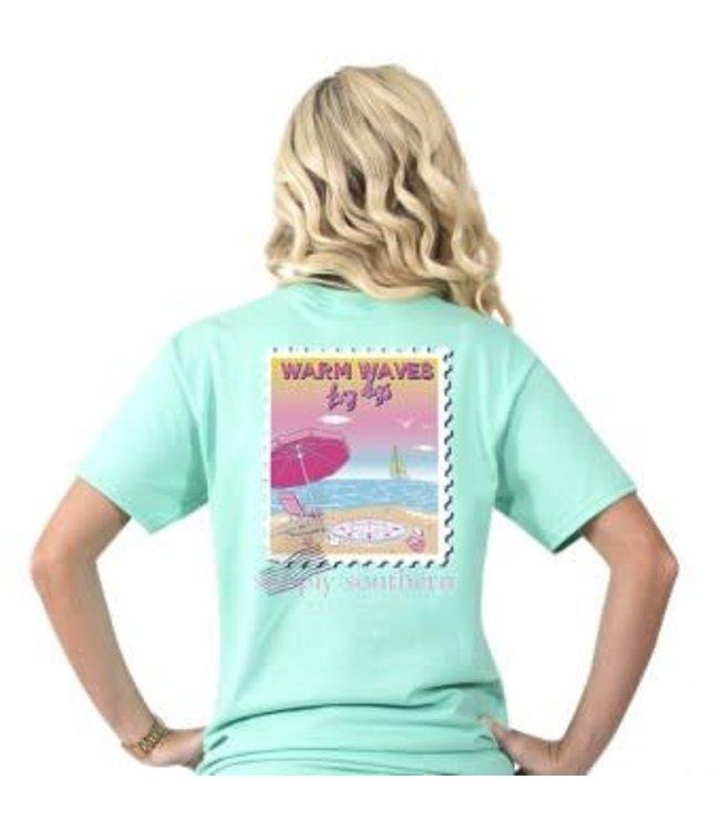 Simply Southern Simply Southern Preppy Warm Shirt Aqua