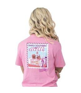Simply Southern Simply Southern Preppy Peachy Shirt Flamingo