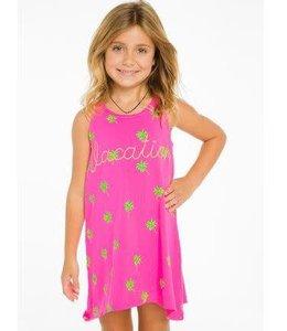 Chaser Palm Tank Dress Pink/Multi
