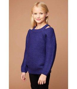 Oversized Knit Sweater Blueberry