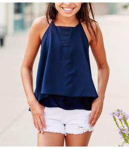 Kiddo Kiddo Layered Tank Navy