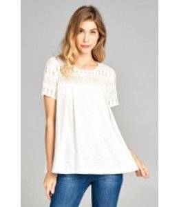 PC Lace Top Ivory