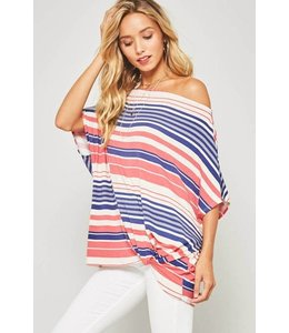 Promesa Flowy Stripe Top Cream/Multi