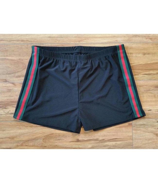 Gucci Inspired Shorts Black/Multi