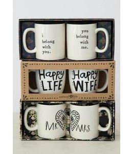 Natural Life Natural Life Set Of 2 Mugs