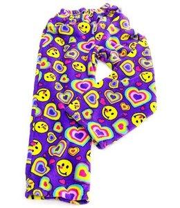 Confetti & Friends CF Fuzzy Emoji Hearts Pant Purple/Multi
