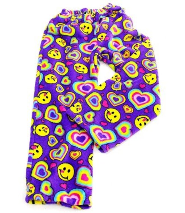 Confetti & Friends CF Fuzzy Emoji Hearts Pant Purple/Multi