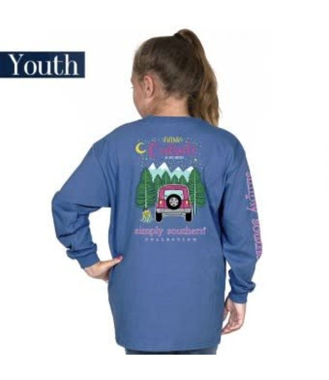 Simply Southern Simply Southern L/S Preppy Think Shirt Moonrise