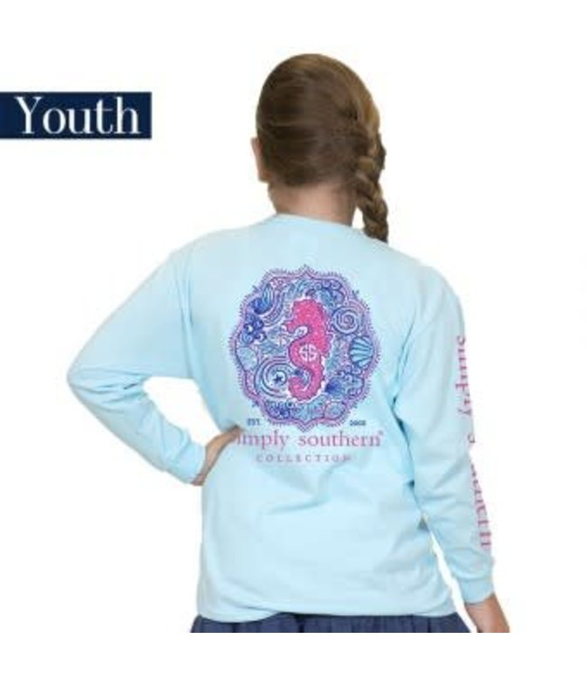 Simply Southern Simply Southern L/S Seahorse Shirt Marine