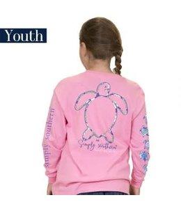 Simply Southern Simply Southern L/S Save Logo Shirt Flamingo