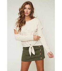 A Beauty By BMB L/S Marcela Shirt W/ Tie Cream