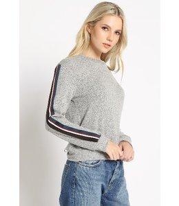 A Beauty By BMB L/S Brushed Stripe Shirt Grey/Multi