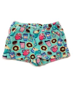 Candy Pink CP Fuzzy Hot Chocolate Short Mint/Multi