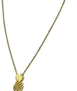 Delicate pineapple charm necklace