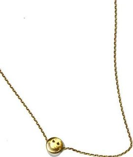 Delicate Happy Face Charm Necklace